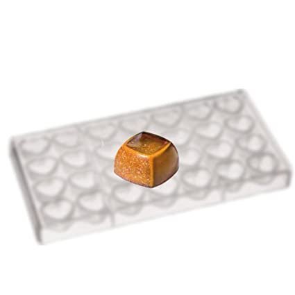 Martellato 28 parte bombones molde, 28 x 28 x 16 mm, policarbonato, 27