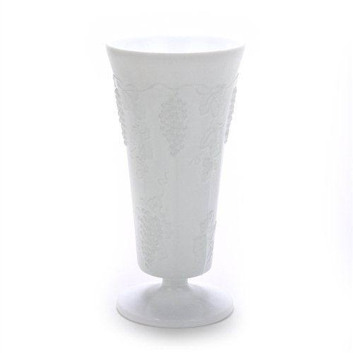 Westmoreland Paneled Grape Milk Glass by, Glass Vase