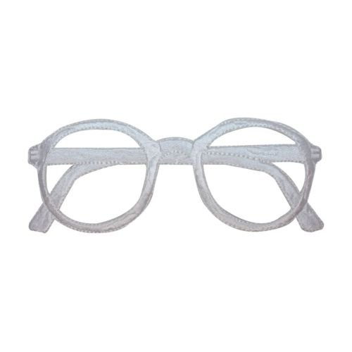 ID 5136 White Frame Eye Glasses Patch Vision Glasses Embroidered IronOn Applique for Accessories - Bags/Purses, Apparel - Coat/Jacket, Apparel - Jeans/Pants, Children, Crafts by - Eyeglasses Of Names