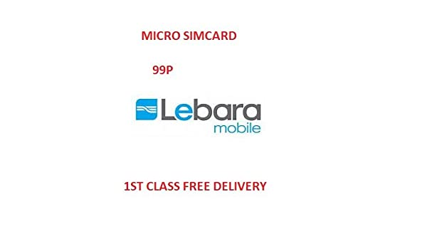 Lebara Tarjeta Micro SIM: Amazon.es: Electrónica