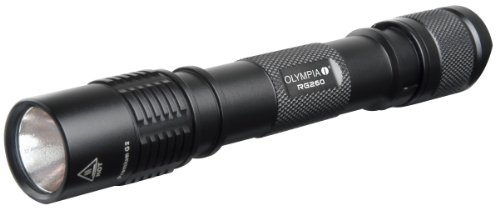 Olympia RG260 High Performance Rugged Waterproof CREE LED Flashlight, 260 Lumens