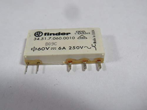 Finder 34.51.7.060.0010 Power Relay 60VDC 6A 250V 5-Pins