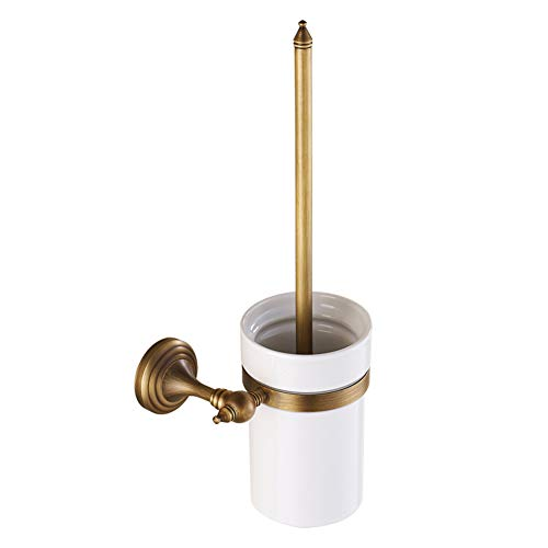 koyiscloth Antique Bathroom Wall Mount Brass Toilet Brush Holder Bathroom Decoration Kitchen Bathroom by koyiscloth