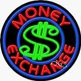 Money Exchange Neon Sign - 26'' x 26''