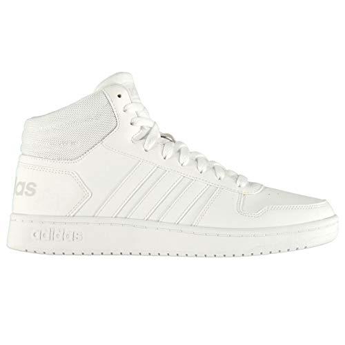 Blanc 000 2 Mid 0 Hoops Adidas blanc Baskets Hommes Pour BqUAg1a