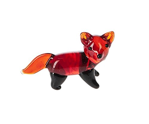 Miniature Glass Fox Figure - By Ganz (Fox Glass)