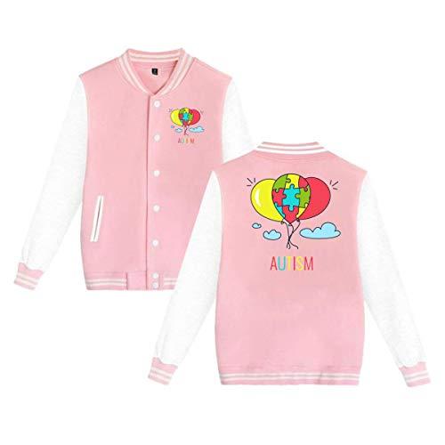 PLS&A88 Adult Unisex Baseball Jacket Uniform Autism Awareness