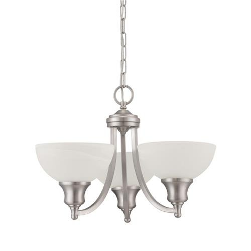 - Luminance F5453-53 Traditional 3 Incandescent Chandelier Light with Satin Nickel Finish