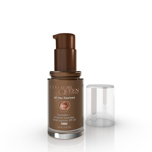 COVERGIRL Queen All Day Flawless Foundation Rich Mink Q860, 1 oz (packaging may vary)