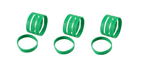 (24) IRISH SAYINGS Rubber Bracelets ~ 8'' Party Favors ~ St. Patrick's Day Parade Accessory ~ Costumes ~ Office Party ()