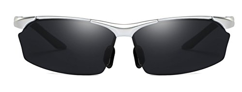 Taille Homme Lens Silver unique Lunettes Frame Black soleil AORON de wI1qTxUna