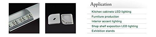 4131 V-shape Aluminum Channel - LED Aluminum Extrusion for Flex/hard LED Strip Light White/milk Cover (200cm/78.74inch)