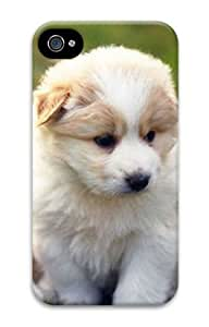 3D Large Husky Puppy PC Protective Cover for Iphone 4/4s of Sun-wincase
