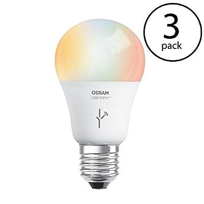 Sylvania Osram Lightify 60W A19 Warm W/D/RGB Smart LED Light Bulb (Needs Hub) (3 Pack)