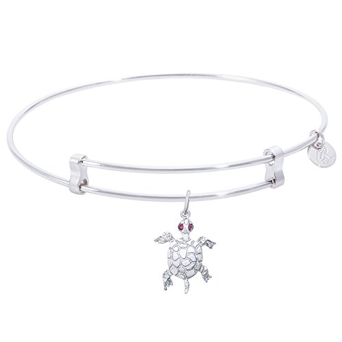 Rembrandt Turtle Charm Expandable Wire 'Confident' Bangle, Sterling -
