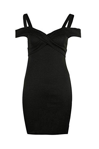 Sevozimda Vestido con Casquillo Mangas En OL Cuello Lápiz Casual V La Delgado Midi negro Backless Mujer v84nwvr