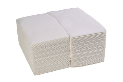 Simulinen White Premium Cloth-Like Guest Towels (Package of 100) * Feels Just Like Linen! *