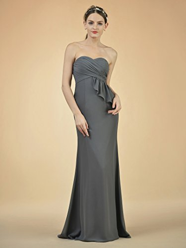 Dress Strapless Mermaid Long Women Turquoise Party Prom Bridesmaid for Dress Evening Alicepub Z8UIwI