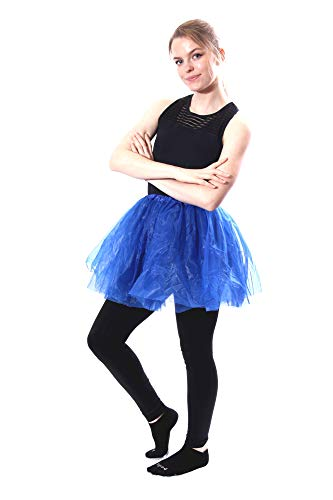 Classic Layered Princess Tutu for Holiday Costumes, Fun Runs, and Everyday Wear Over Leggings Royal Blue