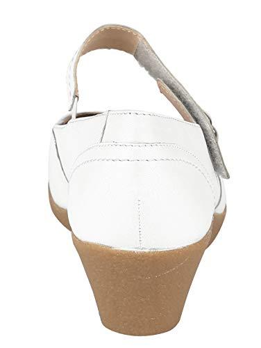 by Damen Lederfutter hochwertigem CAPRICE Keilpumps Weiß mit nX4vxqPF