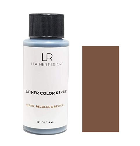 - Leather Restore Leather Color Repair, Medium Brown 1 OZ - Repair, Recolor and Restore Couch, Furniture, Auto Interior, Car Seats, Vinyl and Shoes