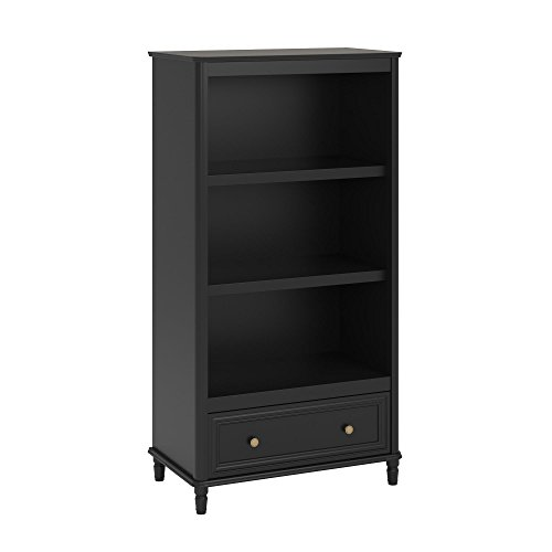 Little Seeds Piper Bookcase, Black (Chest Narrow Drawers Of Black)