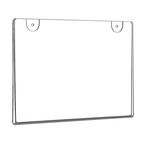 NIUBEE 6 Pack 5x7 Clear Acrylic Sign Holder,Horizontal Wall Mount Sign Holder Plastic Picture Frames for Paper, Bonus with 3M Tape and Mounting Screws