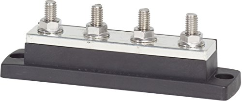 Blue Sea Systems Battery Switch (Blue Sea Systems MaxiBus 250A BusBar with Four Terminal 18 Studs of 5/16-Inch)