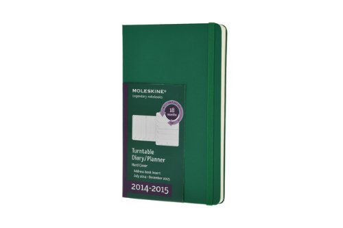 Moleskine 2014-2015 Turntable Weekly Planner, 18M, Large, Oxide Green, Hard Cover (5 x 8.25) (Moleskine Diaries) by Moleskine (2014-03-26) (Planner Moleskine Turntable 2015)