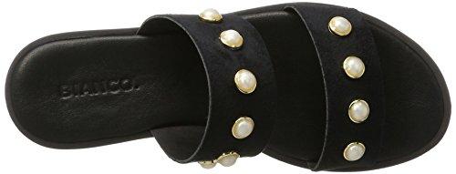 Pantolette Bianco 21 Black Mules Perlen 10 Black Women's 49636 vOqEwZrxgO