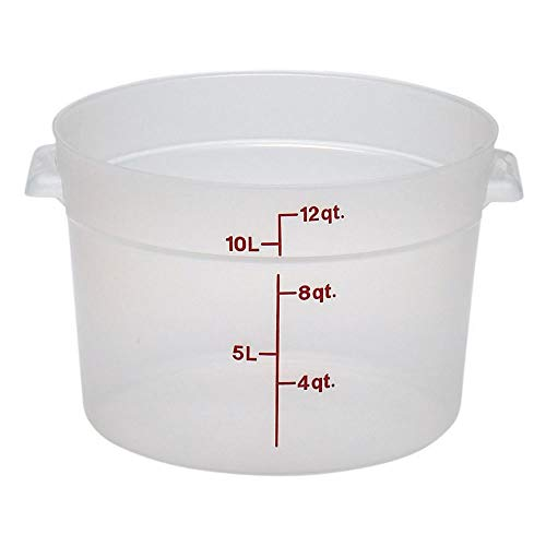 Cambro (RFS12PP190) 12 qt Round Polypropylene Food Storage Container - Camwear