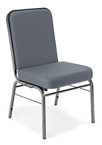 OFM Comfort Class Series Stack Chair, Gray - Ofm Armless Stacking Chair