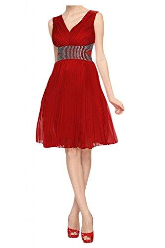 bambini da Sunvary per romantico abito Line Rosso abiti Homecoming a festa wFFrnqx8z