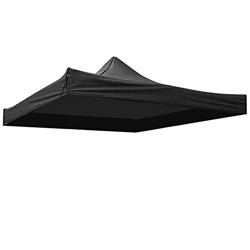 Koval Inc. Waterproof Replacement Top Cover for 10'x10'Pop Up Canopy Tent (Black)