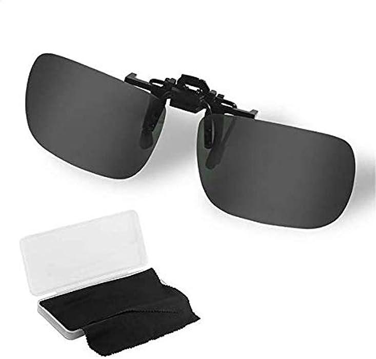 Stanbow Gafas de Sol con Clip, Gafa de Sol Polarizadas de Metal Lente Irrompible contra UV400, Unisexo(Hombres y Mujeres) para ...