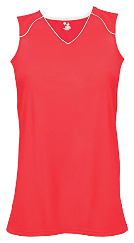 Badger B-Core Ladies Jersey Hot Coral/ White - Outlet Jersey Store
