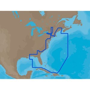 C-map Na (C-Map NA-M022 MAX U.S. East Coast and The Bahamas - SD Card)