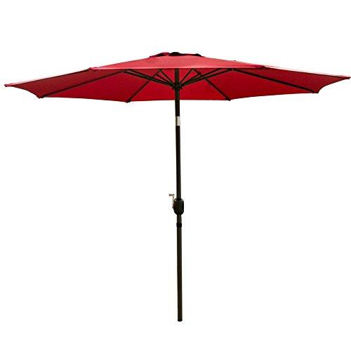 SNAIL 10 ft Outdoor Patio Umbrella, 1000 Hours Fade Resistant Garden Table Umbrella with Push Button Tilt, 8 Ribs, Red price