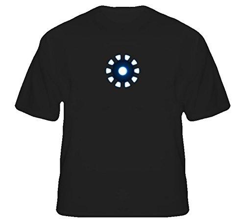Tony Stark Arc Reactor Chest Piece Movie T Shirt 2XL Black