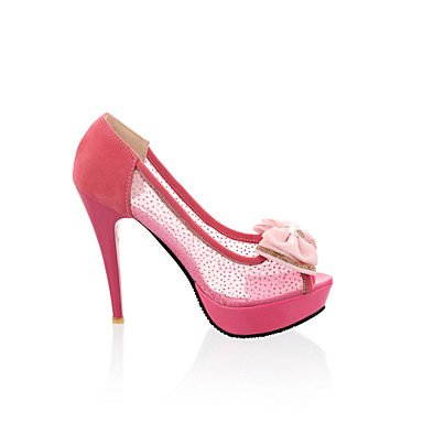 CN42 10 Sandalias Rojo De Mujer Beige US9 Zapatos EU41 Open UK7 Negro Vestido Stiletto Toe Tacones 5 Talón 5 8 v6HF0gwfq