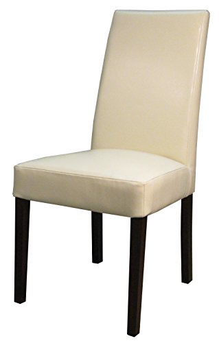 New Pacific Direct 198140-2050 Hartford Bicast Leather Dining Chair,Set of 2 Furniture, Beige ()