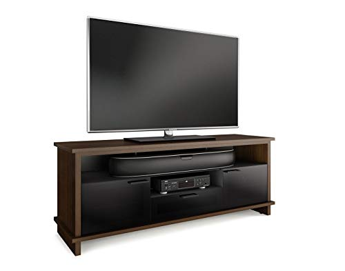 BDI 8828 CWL Braden Triple Wide TV Stand & Media Cabinet, Chocolate Stained Walnut