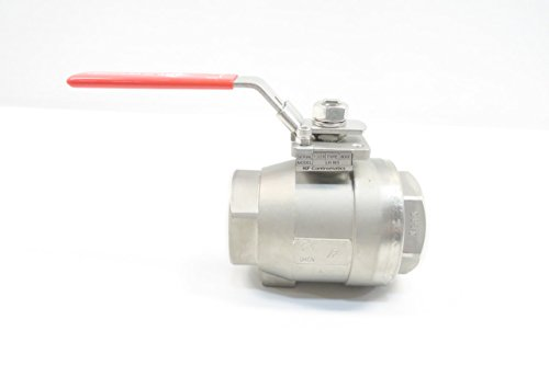 NEW KF CONTROMATICS S8000-M3 LH-M3 STAINLESS THREADED 2IN NPT BALL VALVE D588013 from K F Contromatics