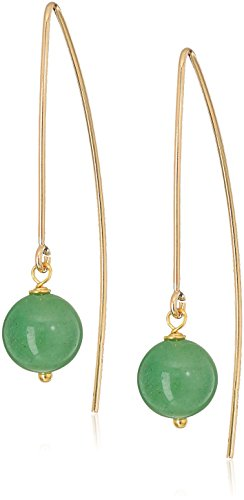 Marquis Earring Settings - Gold Filled Marquis with Aventurine Beads Dangle Earrings