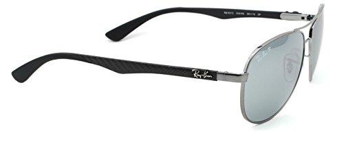 Ray-Ban RB3025 Aviator Flash Lens Gradient Unisex Sunglasses (Black Frame / Orange Gradient Flash Lens 002/4W, - Ban Ray Black Mirrored Aviators