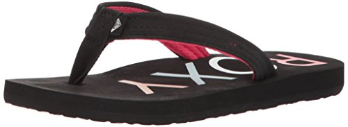 Roxy Girls' RG Vista 3 Point Sandal Flip-Flop, Black 2, 3 M US Little Kid
