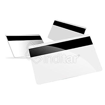 100 x Tarjetas de banda magnética plásticas PVC blancas Lo ...