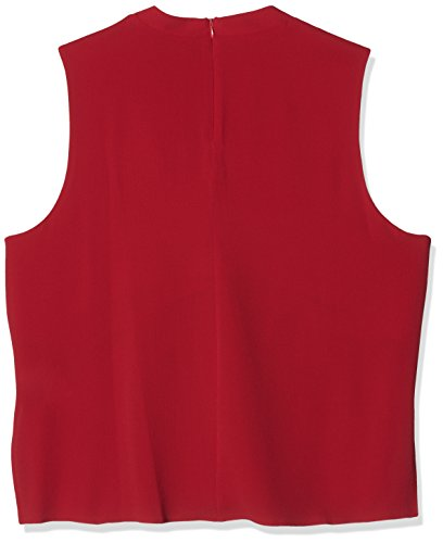 Femme Red Dark Blouse 3805988 Rouge Look New q8UHTaw