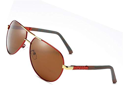 Lunettes Classique protection de lunettes soleil de des Golden Conduire polarisées soleil Lunettes Lunettes Hommes de UV400 de SKNSM cool Rétro soleil de Y04BF