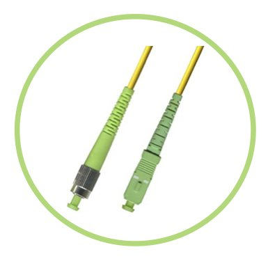 FC to SC/APC Fiber Optic Patch Cable - 1M / 3.28ft - Single Mode - SIMPLEX - Commercial QUALITY from PacSatSales